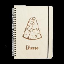 Блокнот с деревянной обложкой Cheese 2